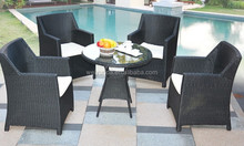 Large Rattan garden Outdoor Furniture Dining Set for 4 people
