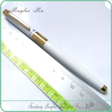 logo print slim metal quality luxury iridium engraved metal chinese fountain pen cheap