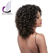 Fast delivery alibaba lace wig china , virgin oprah human hair wig , most fashionable curly wig