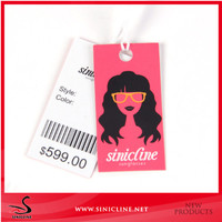 Sinicline Fashion Customized Quality Barcode Tag Clothes Barcode Label