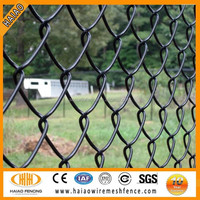 Best price new black powder coated chain link fencing
