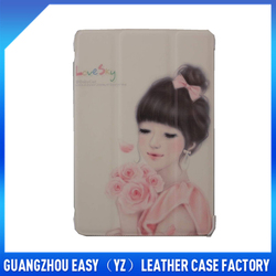factory price pu for ipad mini horse leather case with free sample