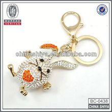 high quality cheap custom rhinestone keychain safety helmet
