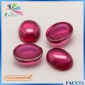 Facetas gemas de la buena calidad Artificial Oval Cabochon corindón 5# rubí
