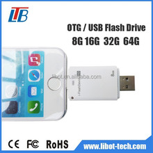 Factoty supply iFlash drive 8GB 16GB 32GB 64GB OTG USB Flash Drive for iPhone5/6 iPod iPad iTouch and computer