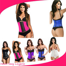 Drop shipping latex waist 3XL corset body shaper