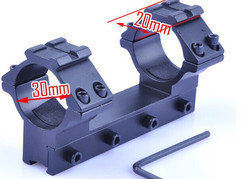 mount dual scope Picatinny 20mm Rails two-place 30mm and 20mm Gun mount laser(BOB-ZJ03)
