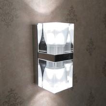 Modern Double Heads GU10 LED Ice Cube Crystal Wall Lamp,M6040