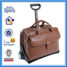 laptop leather bag with wheel new features 2013