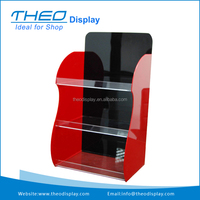 Red Panel and Black Back Arcylic Floor Display Stands Rack