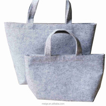 Hot sell felt bag with inside pocket/ magnet closure wool felt tote bag