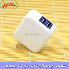 Factory Outlet Wall Charger Folding Plug Travel Charger 5V2.4A Dual Port USB Wall Charger