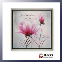 Beautiful Artificial Canvas Magnolia Flower Oil Painting