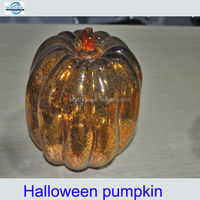 vintage glass halloween pumpkin decoration from China factory