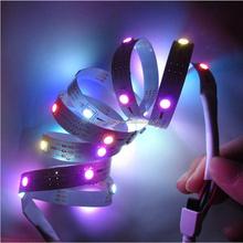 1M 30 LED SMD 5050 RGB LED Pixels WS2812B WS2811 plnofarebny Flexible Light Strip White PCB DC5V