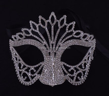 party decorations supplies fashion metal full crystals sex mask for women