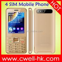 PS-V8100 2.8 inch big screen multi color 4 sim mobile phone