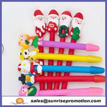 Promotiona Cartoon Pen With Father Christmas Pen