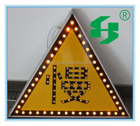 all sizes Solar powered LED triangle warning road traffic signs & signals China factory
