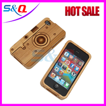 2015 top design protect bamboo case cover for mobile phone