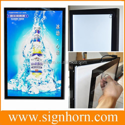 with magnet poster change easily super slim advertising magnetic picture frame