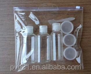 Customized top quality transparent pvc tote bag handle bag