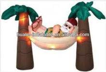 2014 The most popular inflatable wholesale christmas tree decoration/inflatable santa claus for sale