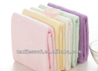 Bamboo fiber solid color silk ribbon towel face towel