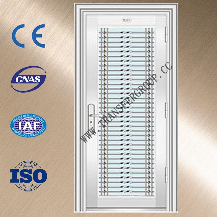Safety door design with grill stainless steel door for for Ss door design