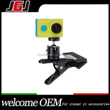 Custom 360 Degree Rotation Mini Ball Head Clip Clamp Mount for xiaomi yi Gopro Hero 4 3+ 3 2 Sport camera for Backpack Hat Clip