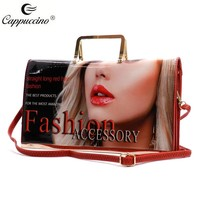 Ladies fashion wholesale elegant custom print Magazine women clutch bag