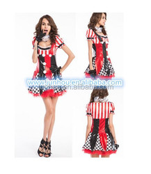 China Halloween tv movie adult xxxl plus size styles circus woman costume fancy dress outlet