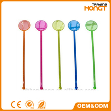 AS SEEN ON TV cocktail plastic transparent custom swizzle stick