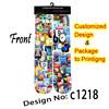creature cellphone design unisex sublimation printing socks men women wholesale and customize