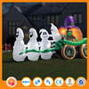 Commercial inflatable horse light decoration with halloween pumpkin