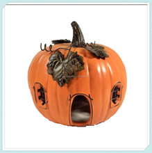 Ceramic Pumpkin House Fall Thanksgiving Decoration