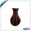 wicker flower vase for home decoration