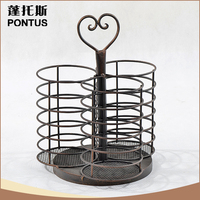 2015 New arrive durable eco friendly metal wine bottle candle holder for sale