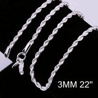 New simple design factory price 925 silver chain italy silver men chain CC014-22
