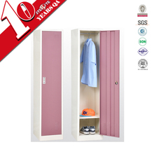easy removable cupboard design with single door / girls pink color individual storage locker