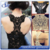 nylon transparent no sleeves crop tops with lace for womens