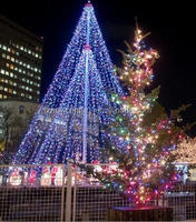 Popular light up christmas tree for outdoor decoration