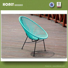 Garden matel frame PE rattan acapulco chair wholesale restaurant chairs