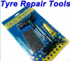 tire repair tools used to plug flat tire with hole
