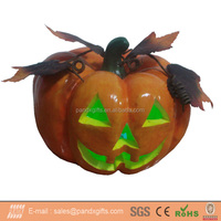 Light up Halloween realist life size pumpkin with sleaves for halloween decoration