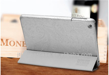 Silvery white stand Tablet accessory Pu Leather case for ipad mini folio leather case foldable pu case