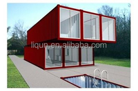2015 ISO china factory whoelsale luxury foldable prefab container house prefab villa