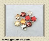 2013 new style christmas tree glass star decoration ideas