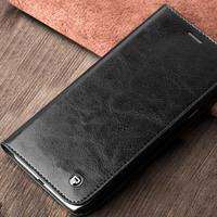 QIALINO Custom Tag Top Layer Leather Cover Case For Samsung A8