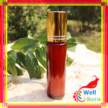 Adorable Pink color Roll On Glass Perfume Bottles For Sale
